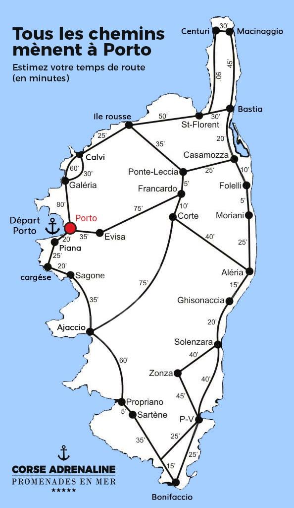 Rejoindre Corse Adrénaline à Porto