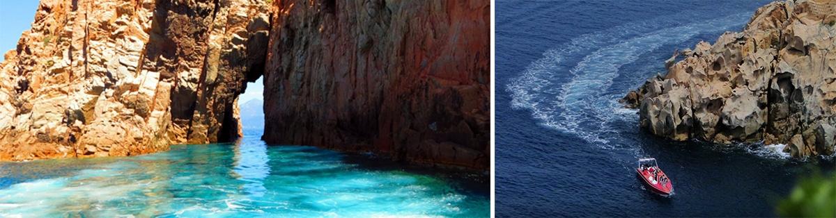 Balade en mer calanques de piana  (1H30) : Calanque de Piana – Grottes du Capo Rosso
