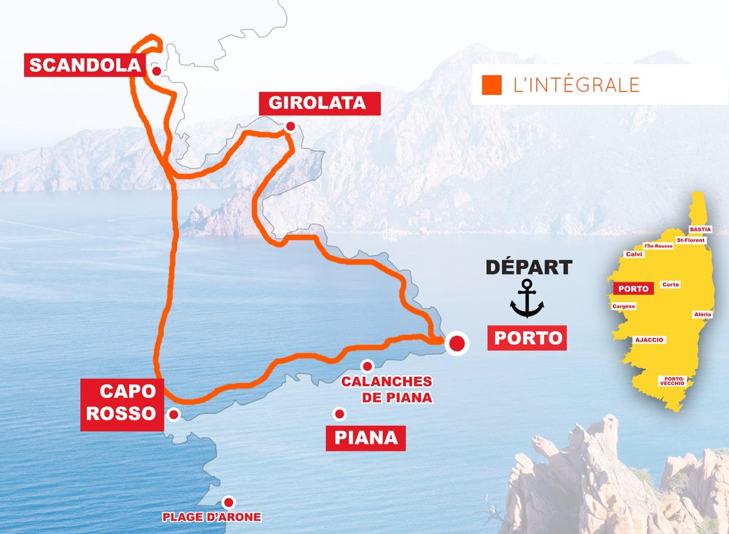 L'intégrale Corse Adrenaline (3H30) : Scandola – Girolata – Calanche de Piana – Capo Rosso