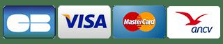 Les moyens de paiements accéptés sont CB, espèce, chéque, ANCV