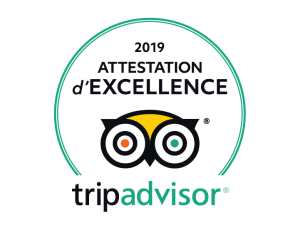 Attestation d'excellence 2019 Trip Advisor - Corse adrenaline